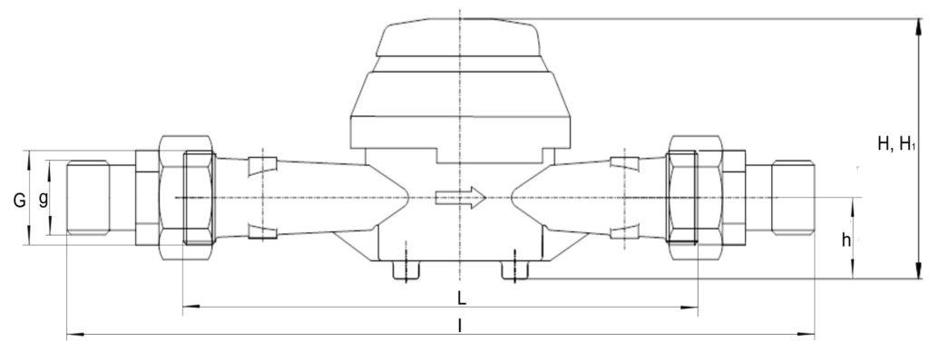 Чертеж (схема) ВСТН 25, 32 и 40 - крыльчатые